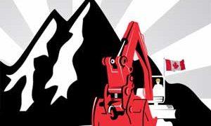チベットでの資源採掘に反対するロゴ