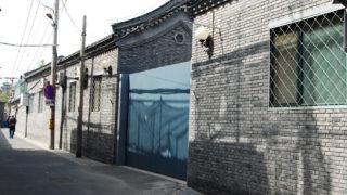 固く門が閉ざされた清代の郵政総局址