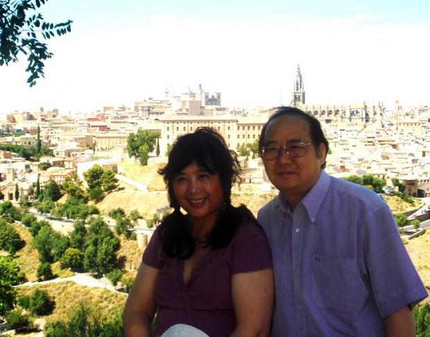 茉莉・傅正明夫妻、スペイン・トレドにて(2010年8月)