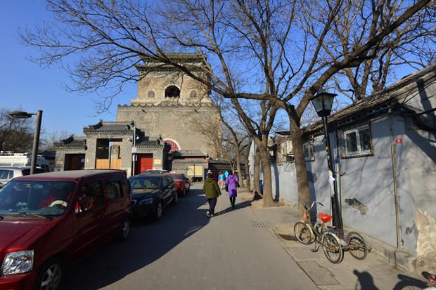 清代に再建された鐘楼。地元では鐘をめぐる伝説も伝えられている。