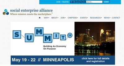 米国の社会的企業連盟のサイト
