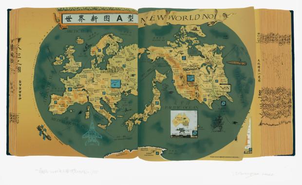 「蔵経2001頁」世界新図A型 2000年(画像/PACE BEIJING提供)