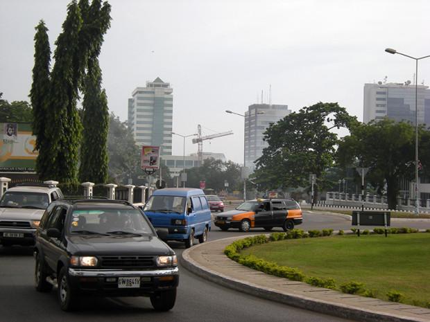 ガーナ首都アクラ中心部ビジネス地区