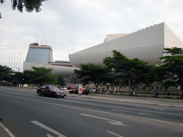 アクラ中心部官庁地区