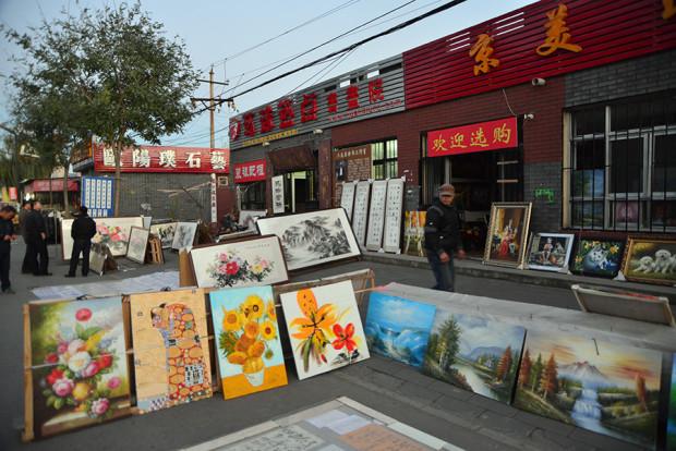 露店の絵画市