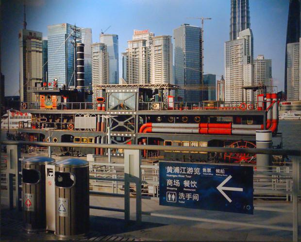 同上、鄭知淵「上海イメージ」シリーズの中の「十六鋪」、2010年(写真/張全)