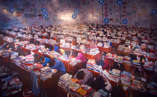 同上、王慶松「フォロー・ユー」、2013年11月23日(写真/張全)
