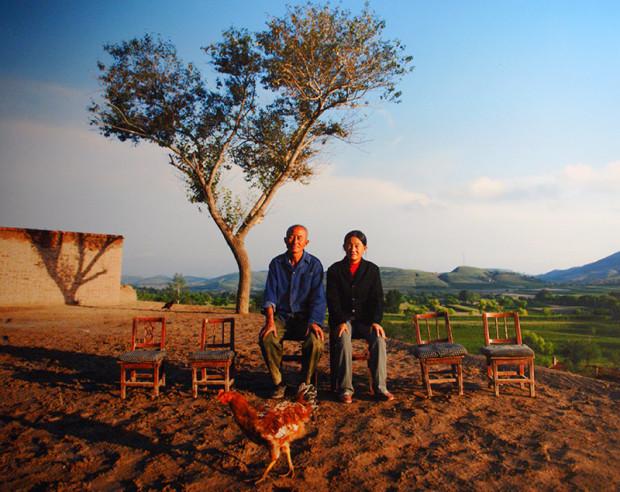 同上、劉傑「空洞化──農村の痛み」シリーズの1作。4人が出稼ぎに出た家を撮影、2011年(写真/張全)