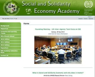 ILO社会的連帯経済アカデミーのサイト