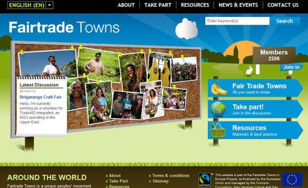 フェアトレードタウンのサイト