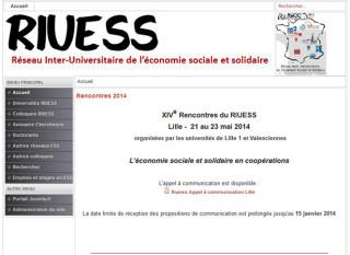 ◀社会的連帯経済大学間ネットワーク(RIUESS)のサイト
