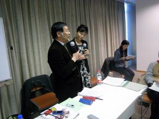観衆の質問に答える後藤氏(写真/渡邉氏提供)