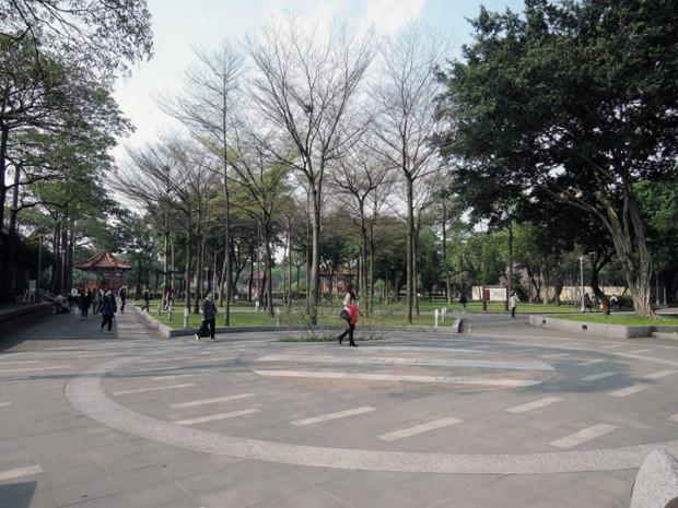 """""""同志""""が多いとされる台北市内の公園"""