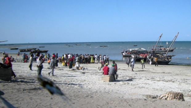 インド洋に面したタンザニアの漁村