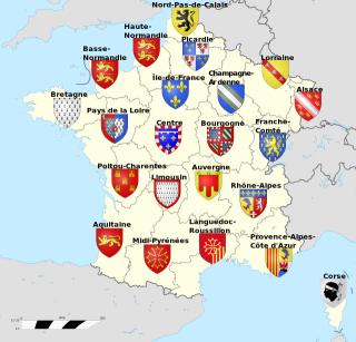 フランスの22の地域圏