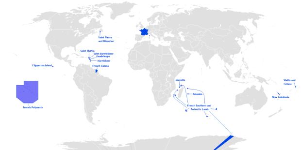 フランスの海外県・海外準県および特別共同体