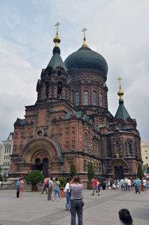 ハルビンを代表するロシア正教会の聖堂、聖ソフィア大聖堂。