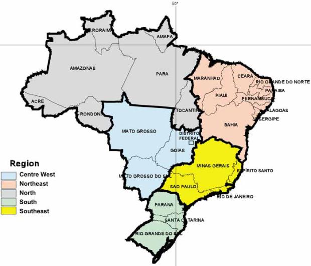ブラジルの地域区分