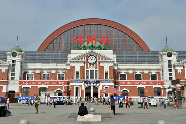 旧奉天駅(現在の瀋陽駅)の東駅舎。1910年の10月1日より使用開始(張全撮影)