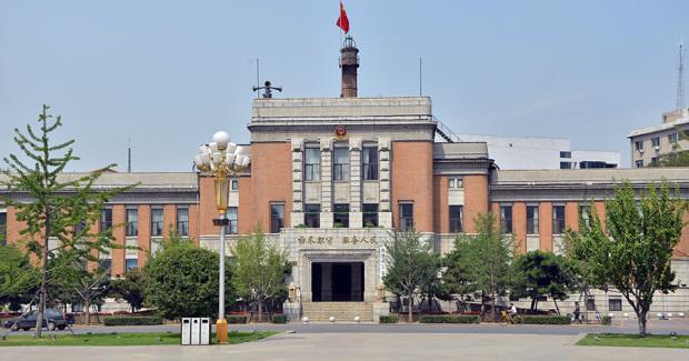 奉天警務署跡(現・瀋陽市公安局)。警務所は鉄道付属地の警察業務を担当。1929年竣工(張全撮影)