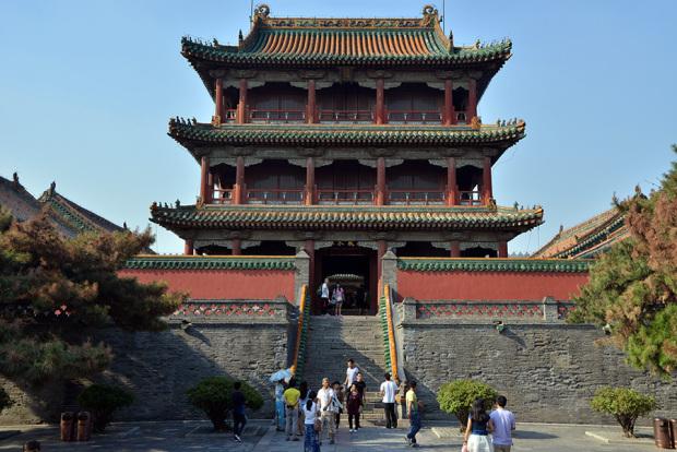 会議や宴、国璽の保管などに使われた鳳凰楼。当時は瀋陽でもっとも高い建物だった(張全撮影)