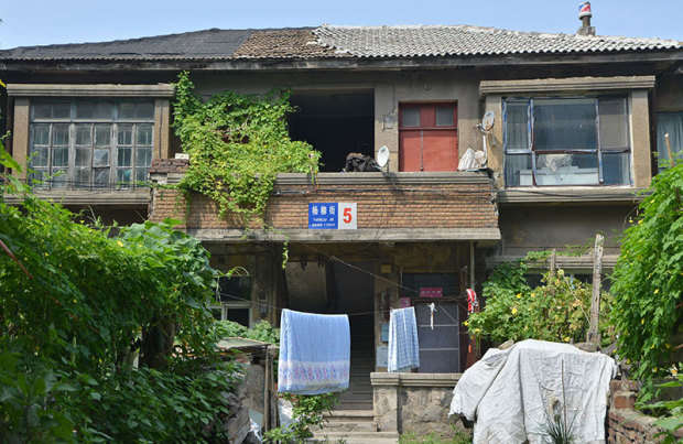 甘井子の一戸建て風アパート(張全撮影)