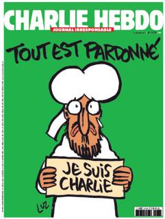2015年1月14日発売のシャルリー・エブドの表紙「全て許される」