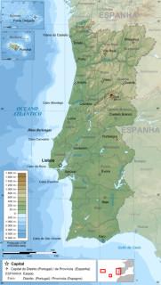 ポルトガル全国地図