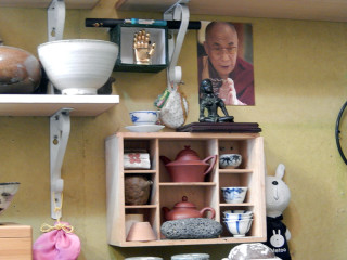 ソウルのお茶屋さんもチベット仏教と