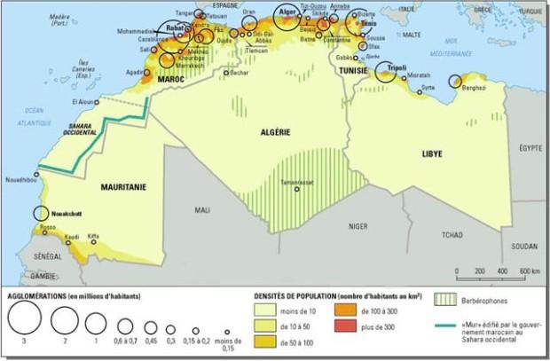 マグレブの地図