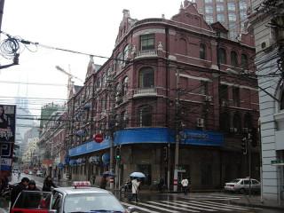 古い街並みのが残る上海旧市街