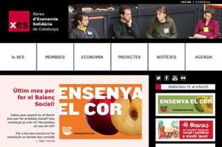カタルーニャ連帯経済ネットワークのホームページ