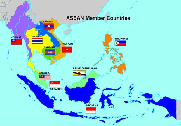 ASEAN諸国の地図