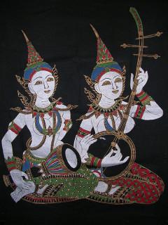 タイの物産店で入手した比較的珍しい図柄の布絵