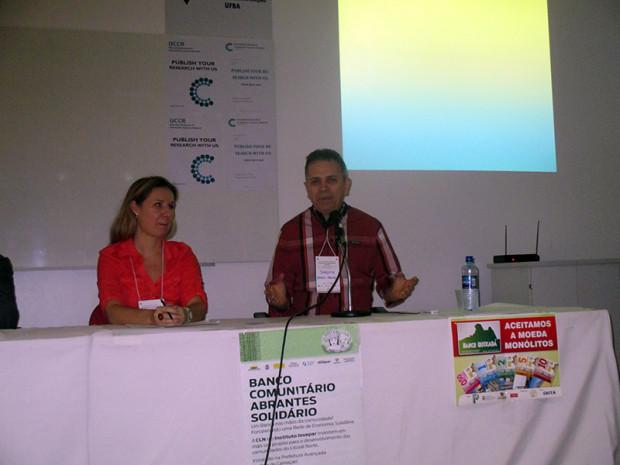 同会議で発表するパルマス銀行の創設者ジョアキン・メロ氏