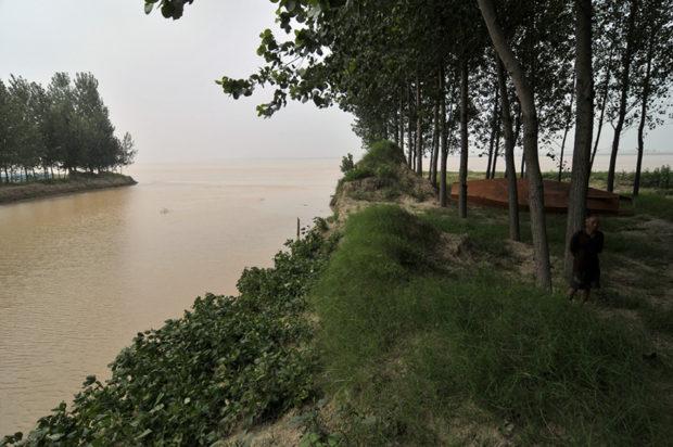 廃黄河の分岐点(蘭考県の挟河灘村)