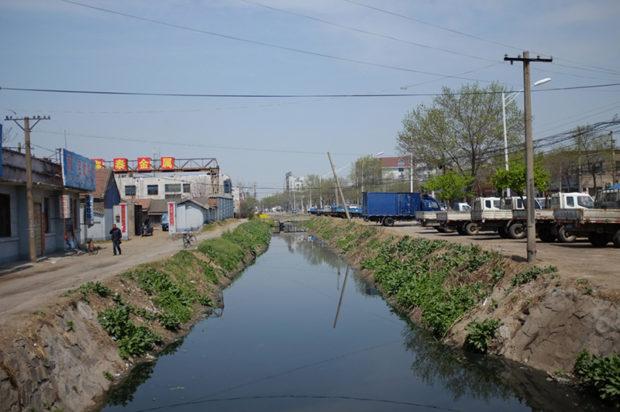 城壁を防衛した護城河。現在は洗濯場などに使われている