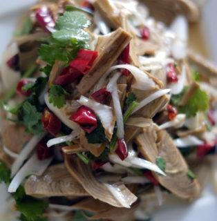 徐州庶民の味「賈汪素火腿」は酸味がきいた健康食