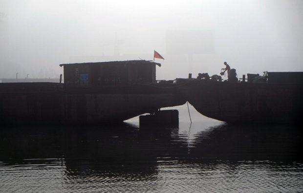大運河は宿遷市街を廃黄河と平行して流れる
