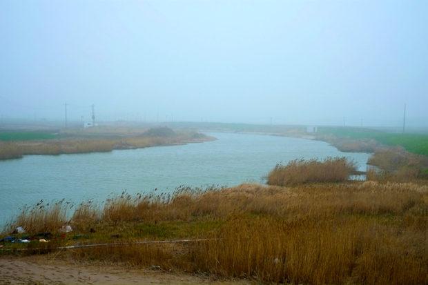 入海直前の廃黄河。黄河故道はここで黄海に注ぎ、長い旅を終える