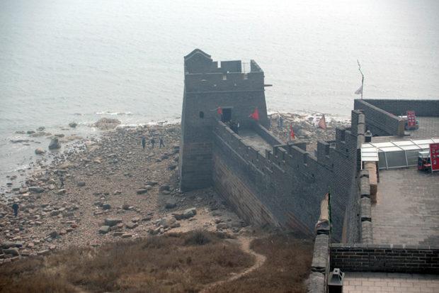老龍頭は渤海に突き出た海の長城だ