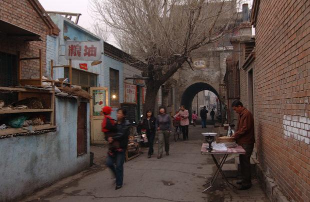 張家口の旧市街。この街の北郊外に宣府鎮に属する大境門がある