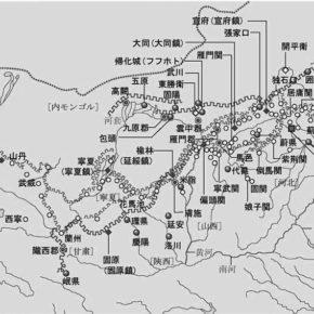 地図:万里の長城全図(株式会社日立デジタル平凡社/世界大百科事典より)