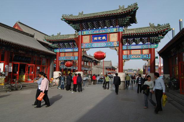 薊県のメインストリート武定街、黄崖関長城までは車で約1時間かかる