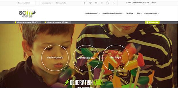 再生可能エネルギーの消費者協同組合ソム・エネルジーアのサイト