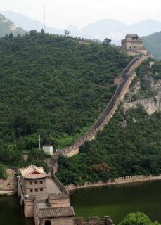関溝(谷川)を跨ぐ居庸関長城