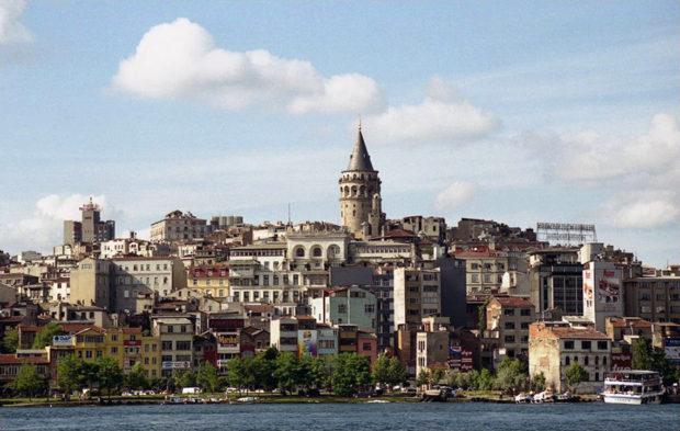 ガラタ塔。ここに登るとイスタンブールの街をぐるりと俯瞰できる