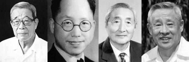 左から梅益、徐邁進、温済澤、廖承志