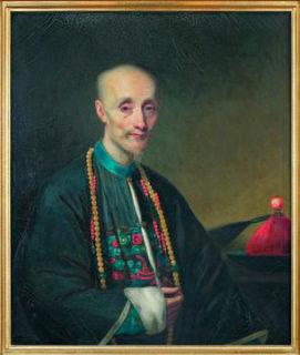 清国最大の商人・伍秉鑑の肖像画 (Forbes House Museum)