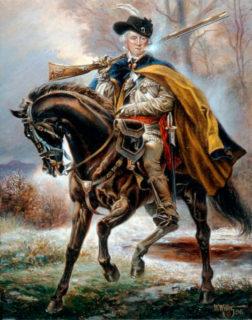 ダニエル・モーガンの肖像画(Frontier Partisans)